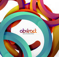 Modern 3d geometrical style background, arch circular lines