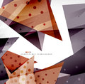 Modern d glossy overlapping triangles in different colors with texture and light effects business brochure background design with Stock Photo