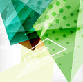 Modern d glossy overlapping triangles in different colors with texture and light effects business brochure background design with Royalty Free Stock Image