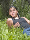 Modern day Native American teenage boy Stock Photo