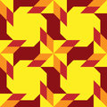 Modern decorative seamless pattern with different geometrical shapes of orange, yellow and burgundy shades Royalty Free Stock Photo
