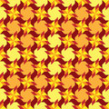 Modern decorative seamless pattern with different geometrical shapes of red, orange, yellow and burgundy shades Royalty Free Stock Photo