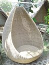 chair from rattan Royalty Free Stock Photo