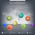 Modern design infographic 3d glossy ball elements Royalty Free Stock Photo