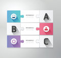 Modern design jigsaw style infographic template ve Royalty Free Stock Photo