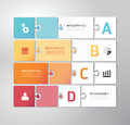 Modern design minimal jigsaw style infographic tem template Royalty Free Stock Photos