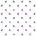 Modern design pattern with origami birds. Vector