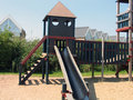 Modern design playground facilities Royalty Free Stock Photography