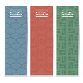 Modern Design Set Of Different Three Graphic Vertical Banners Royalty Free Stock Photo