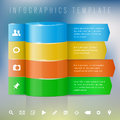 Modern design template for info graphics place your text and icons vector illustration Stock Image