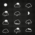 Modern design weather icon symbols Royalty Free Stock Photos