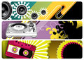 Modern designed music banners Royalty Free Stock Image