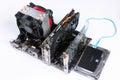Modern desktop hardware assembled. Royalty Free Stock Photo