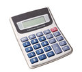 Modern digital calculator for calculations business on a white background Stock Photography