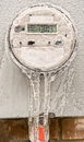 Modern digital electric meter freezing the time lower the electricity bill Stock Photo