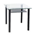 Modern dining glass top table Royalty Free Stock Photo