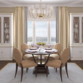 Modern dining-room. Royalty Free Stock Photography
