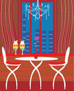 Modern dining room illustration Royalty Free Stock Photo