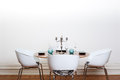Modern dining room - round table Royalty Free Stock Photo
