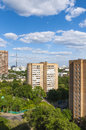 Modern district of Moscow to the residential houses and streets Royalty Free Stock Photos