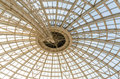 Modern dome structure inside view of Royalty Free Stock Photography