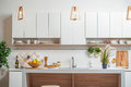 Modern domestic interior in cook room Royalty Free Stock Photo