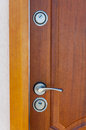 Modern door handle and lock Royalty Free Stock Photography
