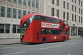 Modern double decker in london a bus uk Stock Photo