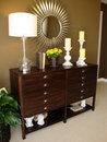 Modern Dresser and Mirror Royalty Free Stock Photos