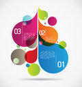 Modern drops background colorful flourish composition for your flourishing creative ideas Royalty Free Stock Image