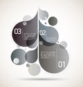 Modern drops background grey flourish composition for your flourishing creative ideas Stock Photography
