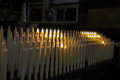 Modern electric candles in the church Royalty Free Stock Photo