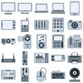 Modern electronic devices vector icons a set of gadgets Stock Images