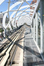 Modern Elevated Tram Railway Stock Photos