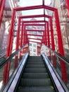 Modern escalator in Vigo Royalty Free Stock Photo