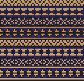 Modern Ethnic Fair Isle Seamless Pattern