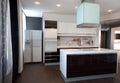 Modern exclusive design kitchen interior Stock Image