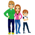 Modern Family Portrait Stock Photo