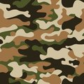 Modern fashion trendy camo pattern.Classic clothing style masking camo repeat print. Green brown black olive colors forest