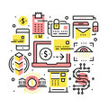 Modern financial transactions technology Royalty Free Stock Photo