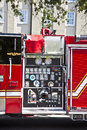 Modern fire truck in charleston usa july on july usa the city of department is an iso rated Stock Photos