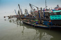 Modern fishing boat in thailand Royalty Free Stock Images
