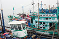 Modern fishing boat in thailand Stock Photos