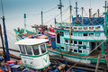 Modern fishing boat in thailand Royalty Free Stock Photos