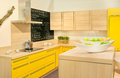 Modern fitted kitchen Royalty Free Stock Photo