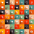 Modern flat icons icon collection vector set Stock Images