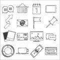Modern flat icons vector collection web design objects business office and marketing items Stock Photography
