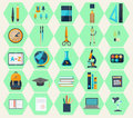 Modern flat icons of web design objects, business, office items Royalty Free Stock Photo