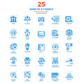 Modern Flat Line Color Icons- Banking and Finance Royalty Free Stock Photo