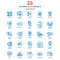 Modern Flat Line Color Icons- Shopping and E commerce